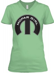 Mopar Girl V-Neck Leaf BELLA+CANVAS Women's V-Neck Tee $23.99