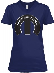Mopar Girl V-Neck Navy BELLA+CANVAS Women's V-Neck Tee $23.99