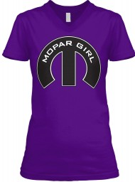 Mopar Girl V-Neck Team Purple BELLA+CANVAS Women's V-Neck Tee $23.99