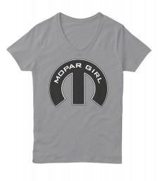 Mopar Girl V-Neck Light Steel Hanes Women's Relaxed V-Neck $22.99