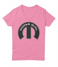 Mopar Girl V-Neck Pink Hanes Women's Relaxed V-Neck $22.99