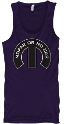 Mopar Or No Car M Team Purple BELLA+CANVAS Unisex Tank $22.99
