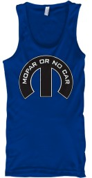 Mopar Or No Car M True Royal  Unisex Tank $22.99