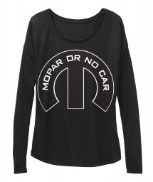 Mopar Or No Car M Black  Women's  Flowy Long Sleeve Tee $43.99