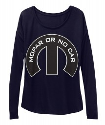 Mopar Or No Car M Midnight BELLA+CANVAS Women's  Flowy Long Sleeve Tee $43.99