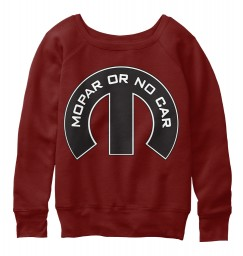 Mopar Or No Car M Dark Red Triblend  Women's Slouchy Sweatshirt $47.99