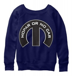 Mopar Or No Car M Navy  Women's Slouchy Sweatshirt $47.99