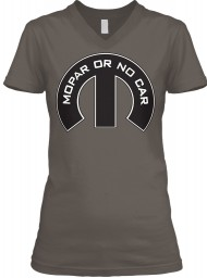 Mopar Or No Car M Asphalt BELLA+CANVAS Women's V-Neck Tee $23.99