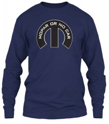 Mopar Or No Car M Navy Gildan 6.1oz Long Sleeve Tee $25.99