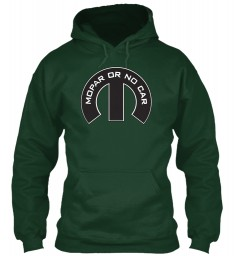 Mopar Or No Car M Forest Green Gildan 8oz Heavy Blend Hoodie $38.99