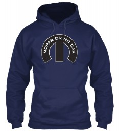 Mopar Or No Car M Navy Gildan 8oz Heavy Blend Hoodie $38.99