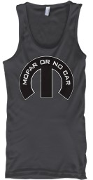 Mopar Or No Car M Charcoal Gildan Unisex Tank $21.99