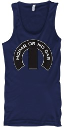 Mopar Or No Car M Navy Gildan Unisex Tank $21.99