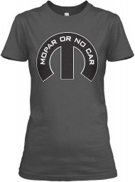 Mopar Or No Car M Charcoal Gildan Women's Relaxed Tee $21.99