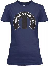 Mopar Or No Car M Navy Gildan Women's Relaxed Tee $21.99