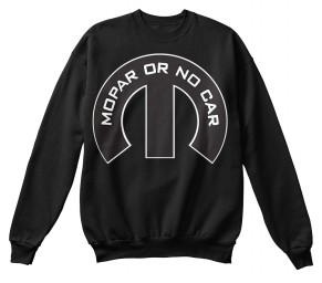 Mopar Or No Car M Black Hanes Unisex Crewneck Sweatshirt $33.99