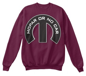 Mopar Or No Car M Maroon Hanes Unisex Crewneck Sweatshirt $33.99