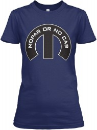 Mopar Or No Car M Midnight Navy Next Level Womens Boyfriend Tee $23.99