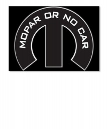 Mopar Or No Car M Landscape Sticker $6.00