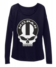Mopar Skull Midnight BELLA+CANVAS Women's  Flowy Long Sleeve Tee $43.99