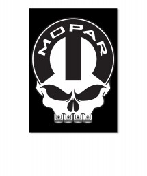 Mopar Skull Portrait Sticker $6.00