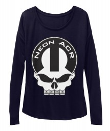 Neon ACR Mopar Skull Midnight  Women's  Flowy Long Sleeve Tee $43.99