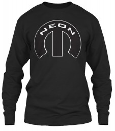 Neon Mopar M Black Gildan 6.1oz Long Sleeve Tee $25.99