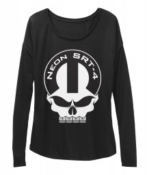 Neon SRT-4 Mopar Skull Black  Women's  Flowy Long Sleeve Tee $43.99