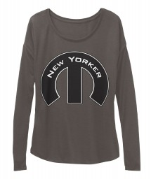 New Yorker Mopar M Dark Grey Heather  Women's  Flowy Long Sleeve Tee $43.99