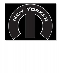 New Yorker Mopar M Landscape Sticker $6.00
