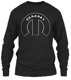 Omni Mopar M Black Gildan 6.1oz Long Sleeve Tee $25.99