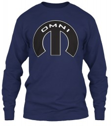 Omni Mopar M Navy Gildan 6.1oz Long Sleeve Tee $25.99