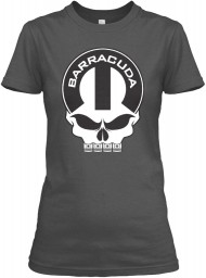 Plymouth Barracuda Mopar Skull Charcoal Gildan Women's Relaxed Tee $21.99
