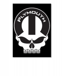 Plymouth Mopar Skull Portrait Sticker $6.00