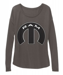 Ram Mopar M Dark Grey Heather BELLA+CANVAS Women's  Flowy Long Sleeve Tee $43.99