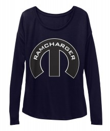Ramcharger Mopar M Midnight BELLA+CANVAS Women's  Flowy Long Sleeve Tee $43.99