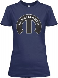 Ramcharger Mopar M Navy Gildan Women's Relaxed Tee $21.99