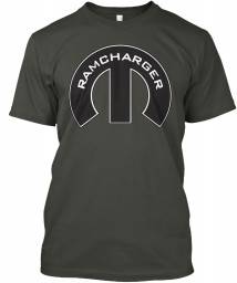 Ramcharger Mopar M Smoke Gray Hanes Tagless Tee $21.99