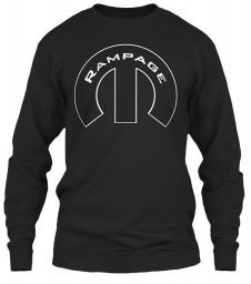Rampage Mopar M Black Gildan 6.1oz Long Sleeve Tee $25.99
