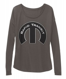 Rapid Transit Mopar M Dark Grey Heather  Women's  Flowy Long Sleeve Tee $43.99