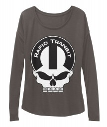 Rapid Transit Mopar Skull Dark Grey Heather  Women's  Flowy Long Sleeve Tee $43.99