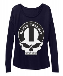 Rapid Transit Mopar Skull Midnight BELLA+CANVAS Women's  Flowy Long Sleeve Tee $43.99