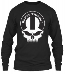 Rapid Transit Mopar Skull Black Gildan 6.1oz Long Sleeve Tee $25.99