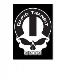 Rapid Transit Mopar Skull Portrait Sticker $6.00