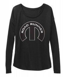 Road Runner Mopar M Black BELLA+CANVAS Women's  Flowy Long Sleeve Tee $43.99