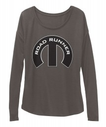 Road Runner Mopar M Dark Grey Heather BELLA+CANVAS Women's  Flowy Long Sleeve Tee $43.99