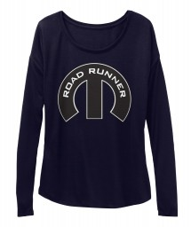 Road Runner Mopar M Midnight BELLA+CANVAS Women's  Flowy Long Sleeve Tee $43.99