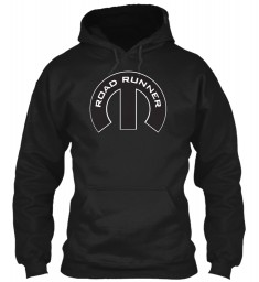 Road Runner Mopar M Black Gildan 8oz Heavy Blend Hoodie $38.99