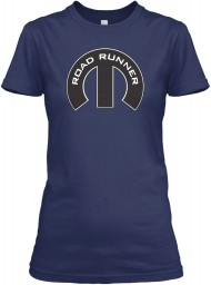 Road Runner Mopar M Navy Gildan Women's Relaxed Tee $21.99