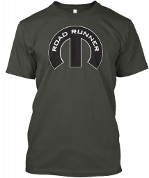 Road Runner Mopar M Smoke Gray Hanes Tagless Tee $21.99